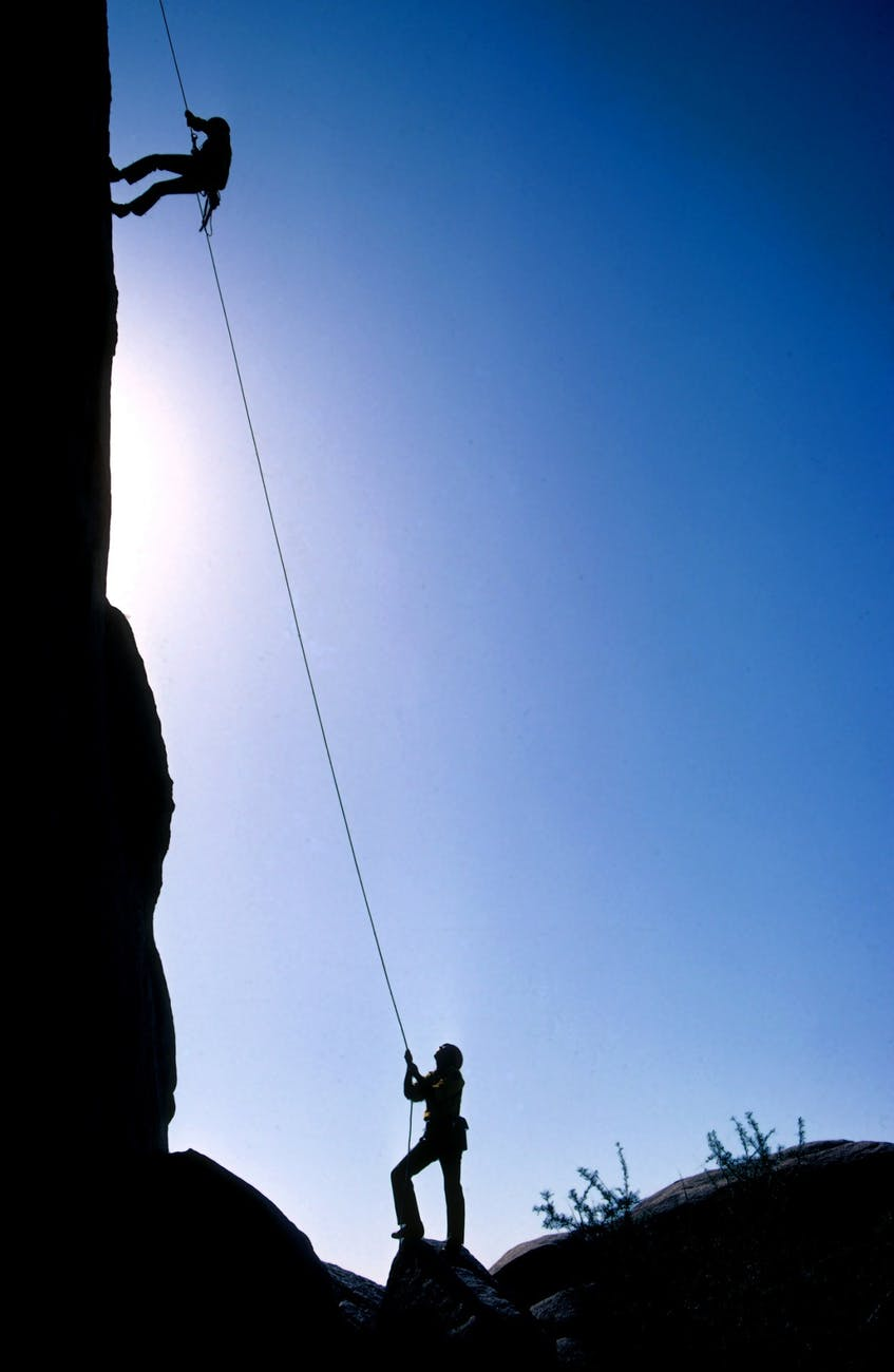 The Climber-When Life Kicks you down GET A ROPE and CLIMB BACK UP !